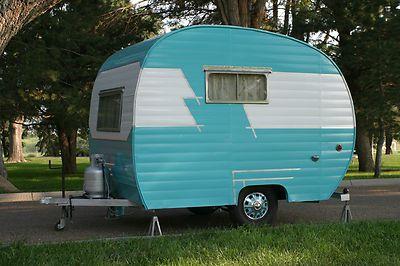 Vintage 1955 Hanson Love Bug Camper Travel Trailer Glamper