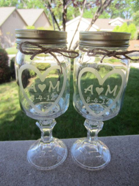 Redneck Mason Jar Wedding 2 Redneck Wine by EtchedExpressions, $24.00