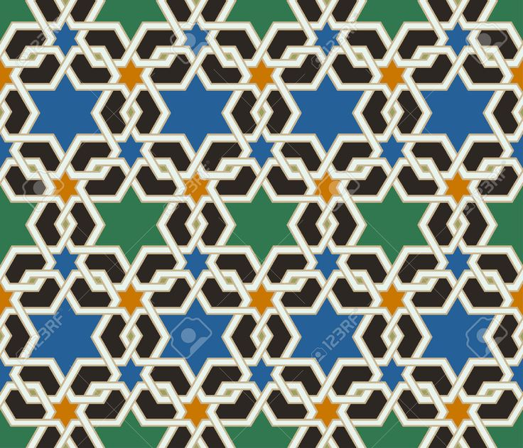 Seamless Islamic Geometric Pattern Royalty Free Cliparts, Vectors, And Stock Illustration. Image 24023702.