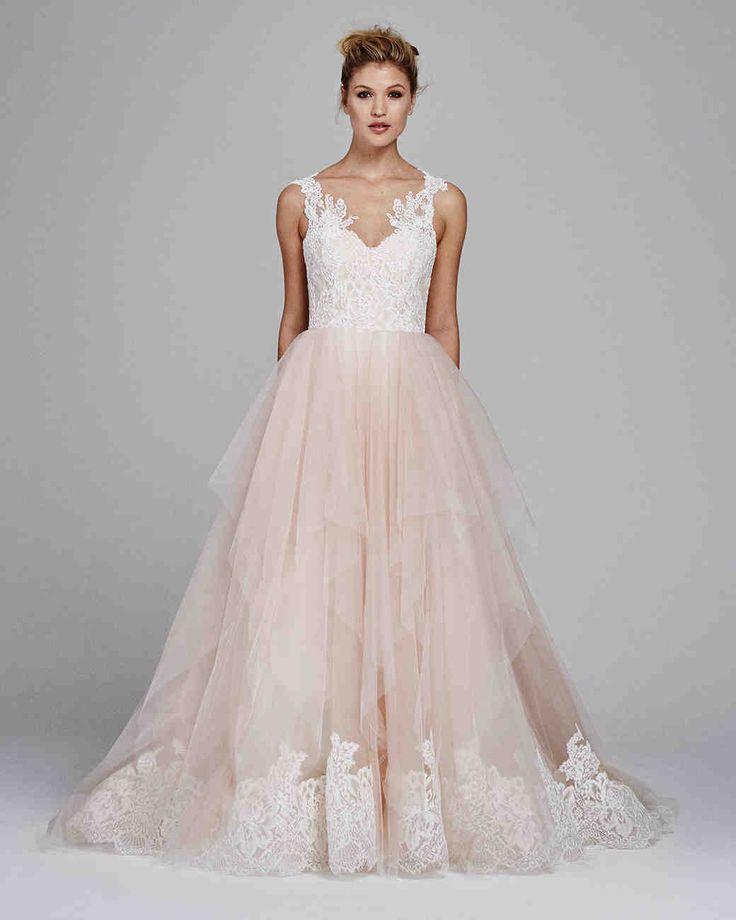 "Kelly Faetanini Fall 2017 Wedding Dress Collection | Martha Stewart Weddings – ""Azalea"" tulle & Alecon lace wedding dress"