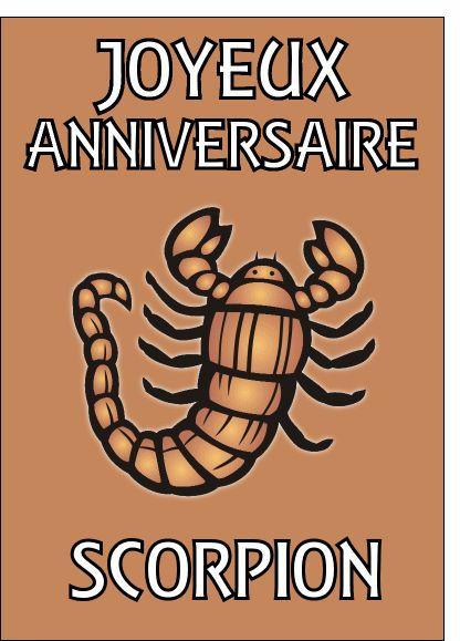 Carte Joyeux anniversaire scorpion pour envoyer par La Poste, sur Merci-Facteur !