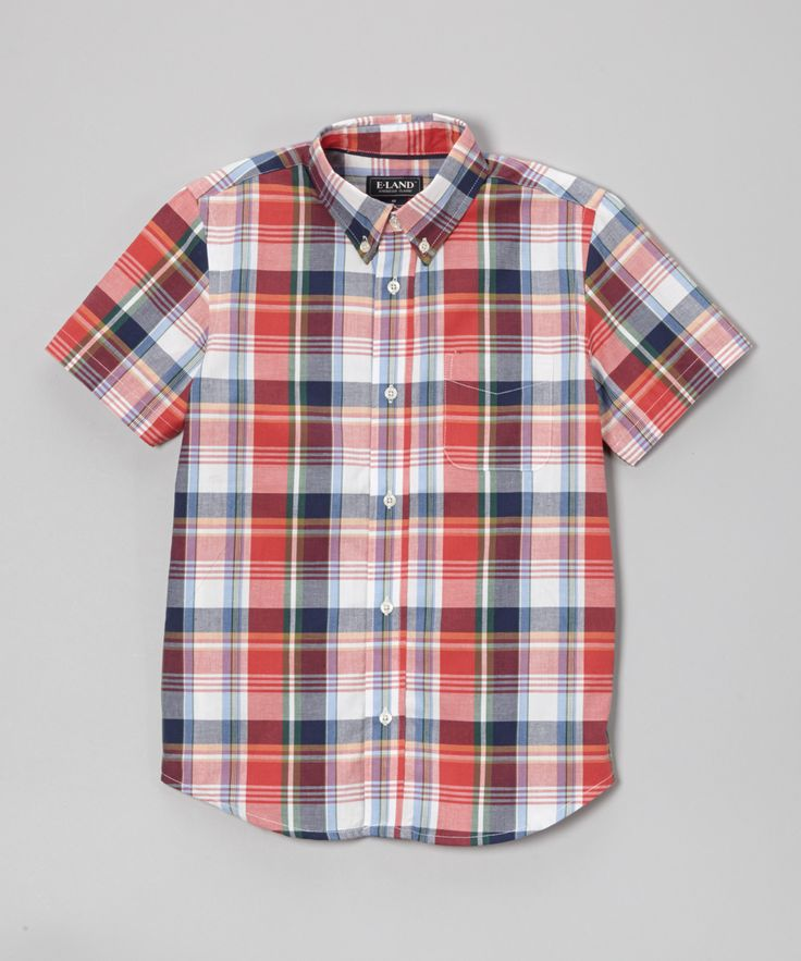 Nantucket Red Plaid Button-Up - Boys