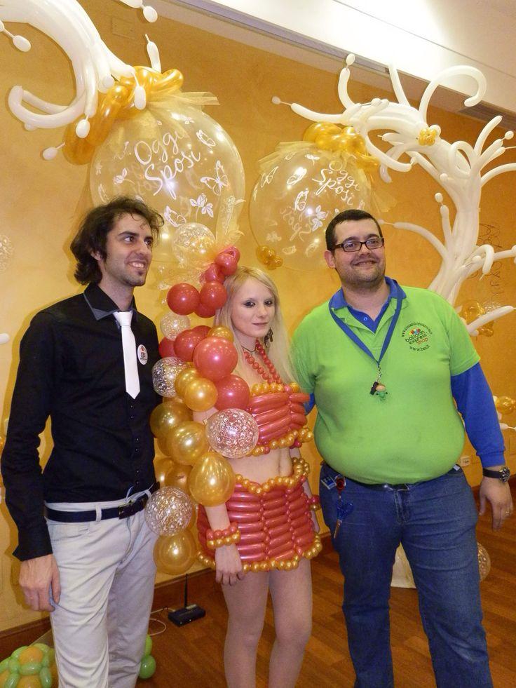 Balloon dress Happy new year- Balloon Express showroom