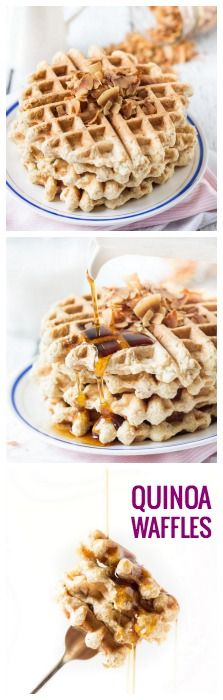 AMAZING & FLUFFY gluten-free waffles - with quinoa and toasted coconut chips!