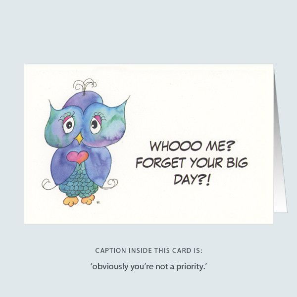 'realist owl' greeting card