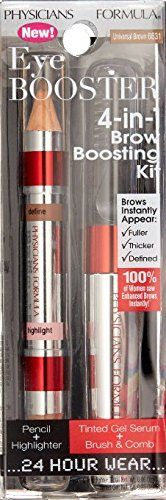 Physicians Formula Eye Booster 4-in-1 Brow Boosting Kit, Universal Brown (Pack of 2). Physicians Formula Eye Booster 4-in-1 Brow Boosting Kit, Universal Brown (Pack of 2).