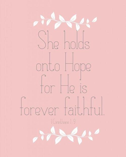 He is her hope.