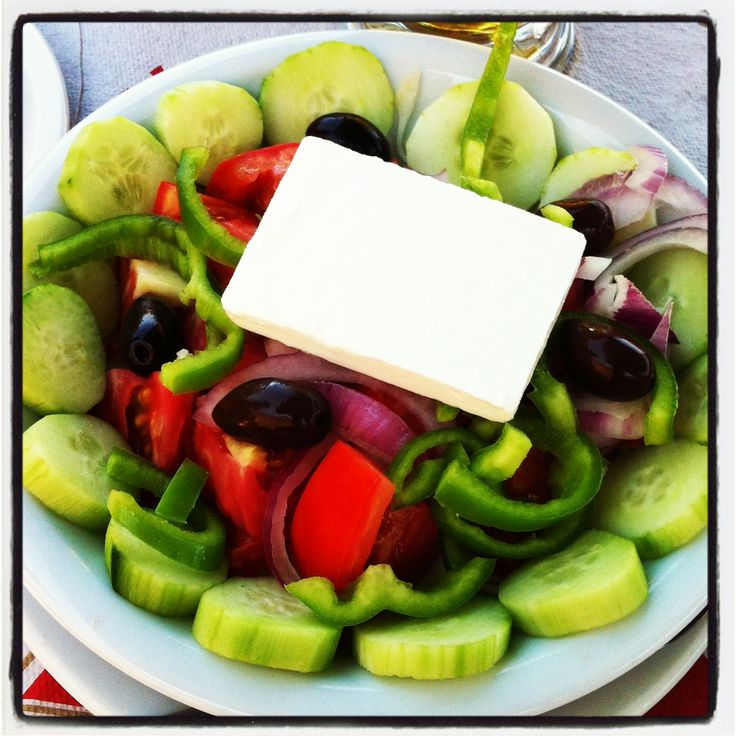 Unsurprisingly, the traditional Greek salad is rather amazing in, er, Greece.  *This photo is from our Instagram account. Follow us at TribeTheMag