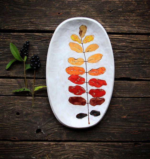 Jahreszeitentisch - Herbstblatt - ein Designerstück von pracownia_Kasi bei DaWanda