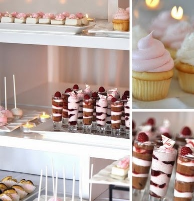 Wedding High: Petite Dessert Station for your wedding.Pink Desserts, Petite Sweets, Candies Buffets, Petite Desserts, Sweets Desserts, Desserts Bar, Minis Desserts, Desserts Stations, Desserts Tables
