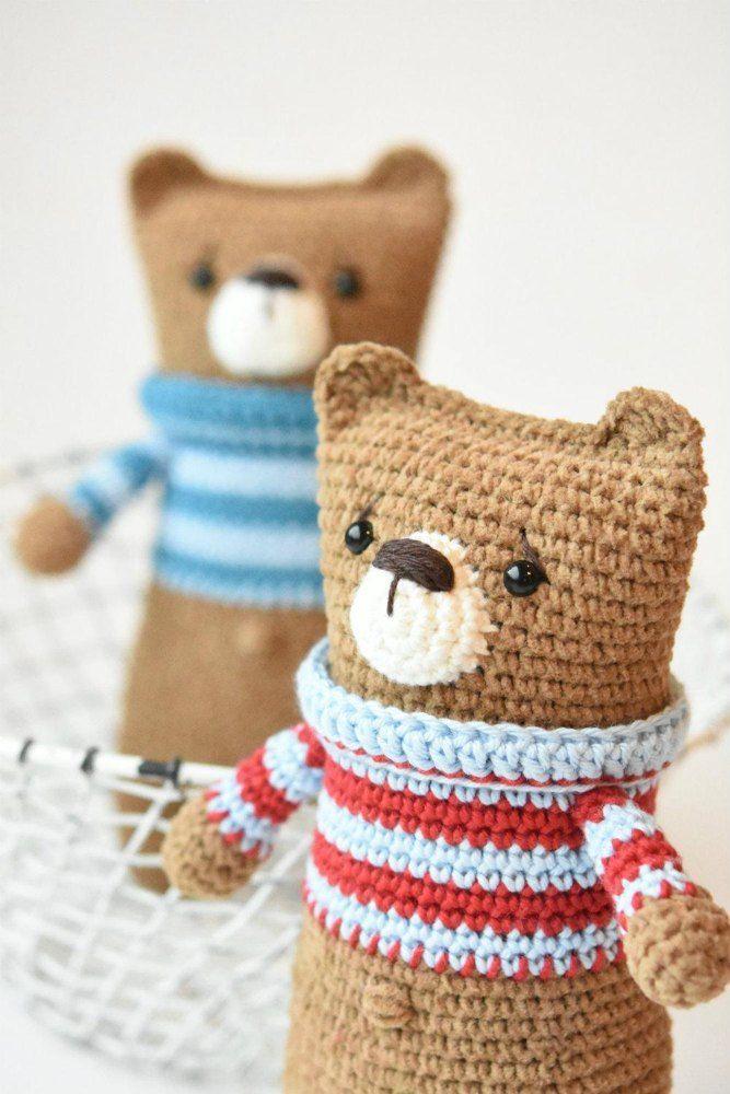 Lazybones bear Crochet pattern by lilleliis