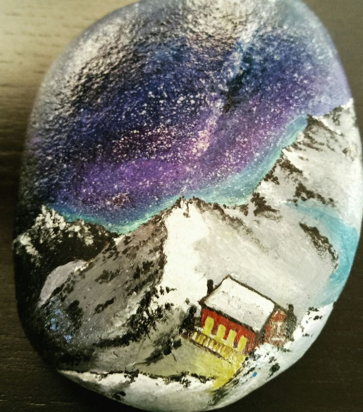 Oil color on stones..