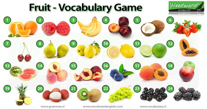 Fruit in English - English Vocabulary Game - Can you name each fruit in the photos?