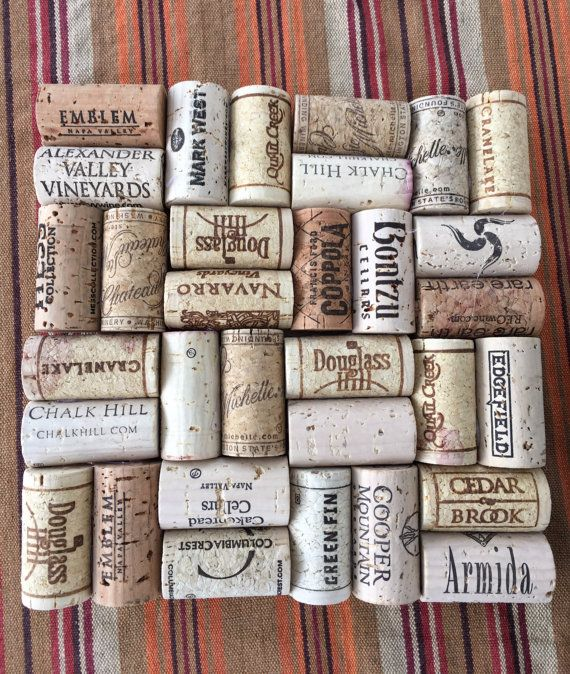 Handgemaakte wijn kurk onderzetters Echte wijnkurken * geen synthetische Ongeveer 8 x 8