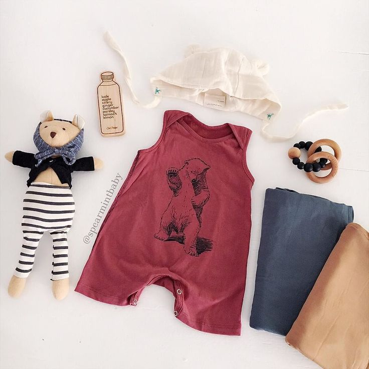 For your lil' bear cub! shop organic cotton shorts Rompers at spearmintLOVE.com