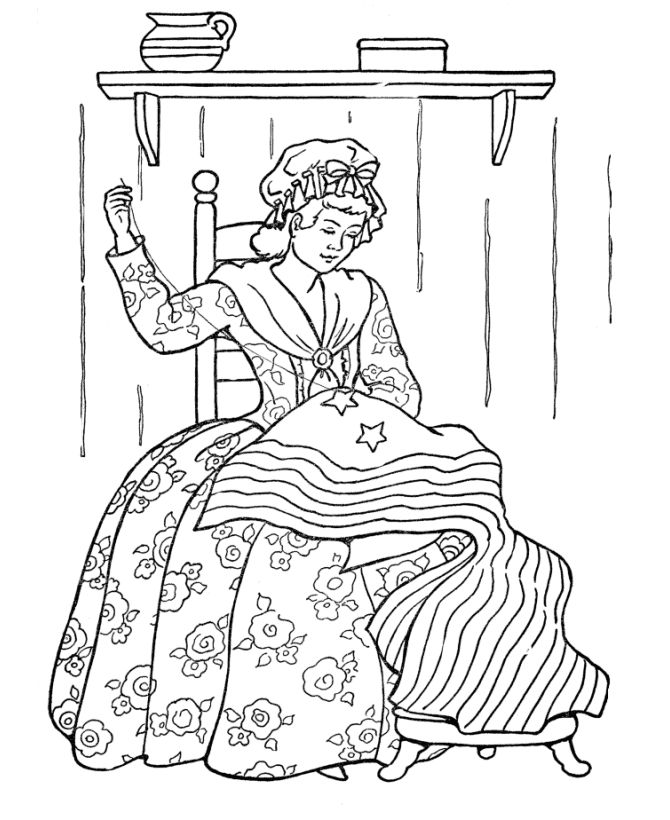 Strawberry Shortcake Coloring Pages Free For Kids See More Betsy Ross Sewing The Flag American