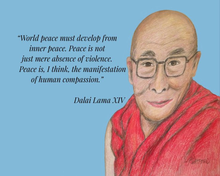 Dalai Lama, Inspirational Quote, World Peace Quote, Portrait, Digital Download, Blue, Illustration Print, 8 x 10, Printable by JcwPrism on Etsy