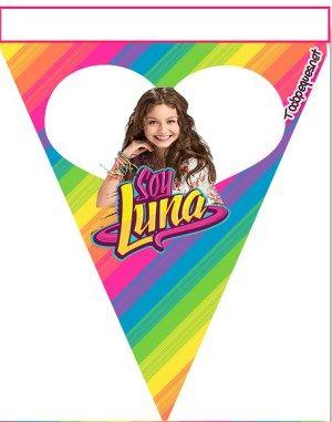 Banderines de Soy Luna para descargar gratis - Cumpleaños de Soy Luna