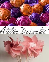 Decorazioni di carta con Atelier Descartes
