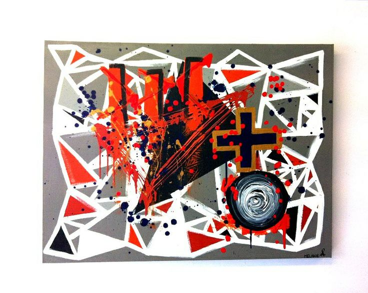 'Human Chaos' by Melanie Roberts. #Abstract #Modern #Contemporary Art
