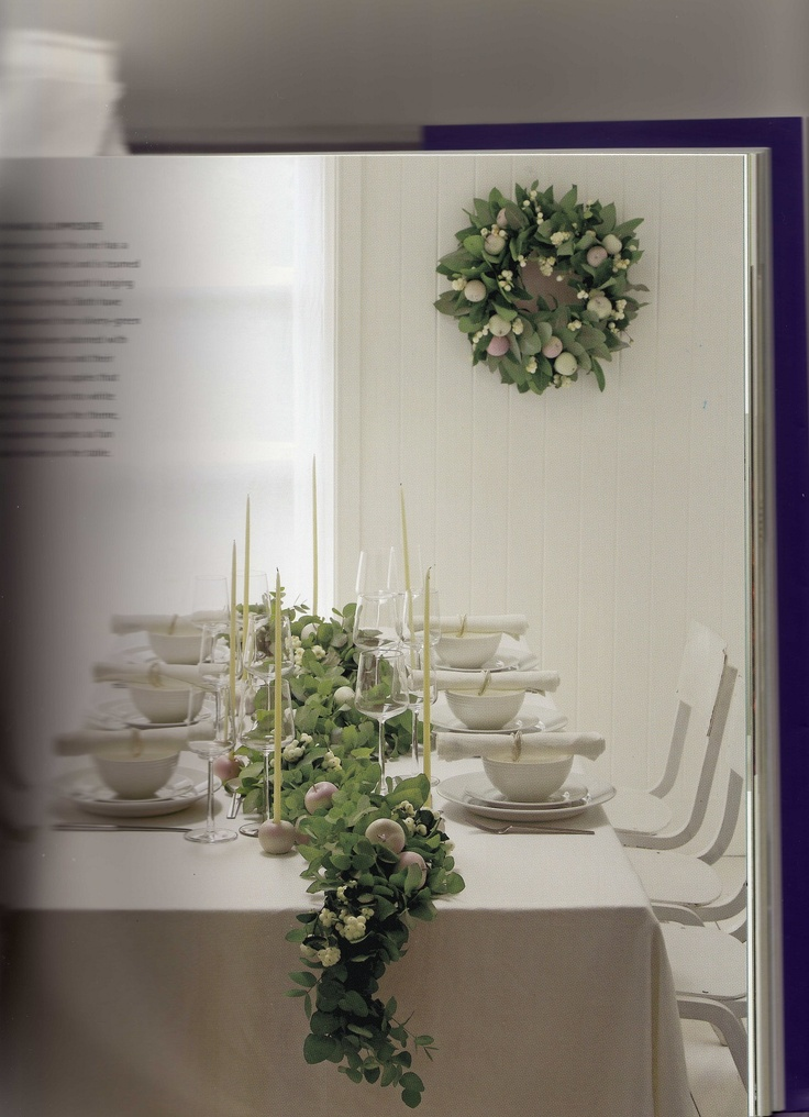 Best thanksgiving table green garland images on