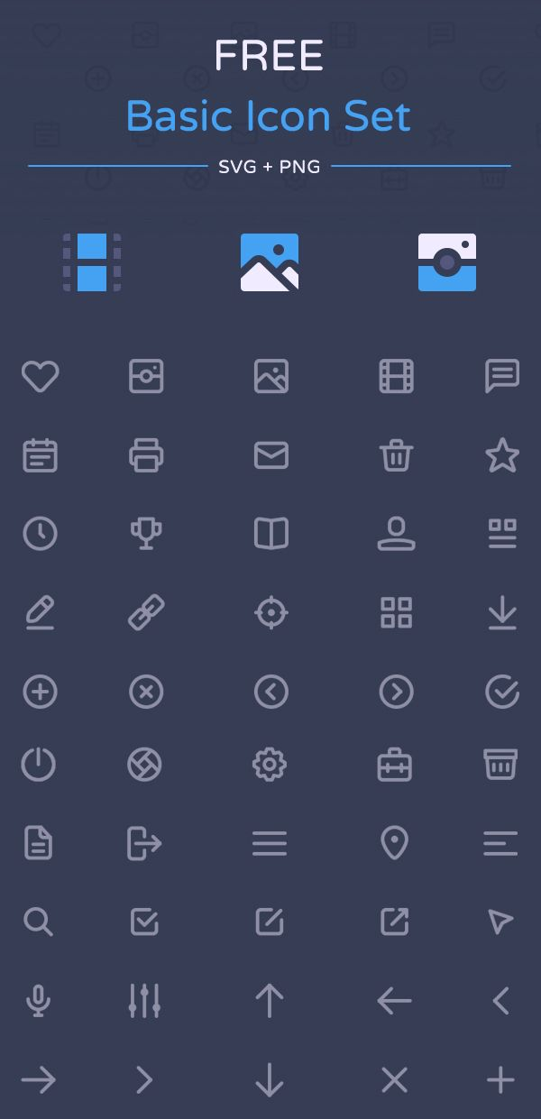 Ideas for Marking Up a Close Read___Free Basic Icon Set by Dmitriy Ivanov #vectoricons #freebie #lineicons