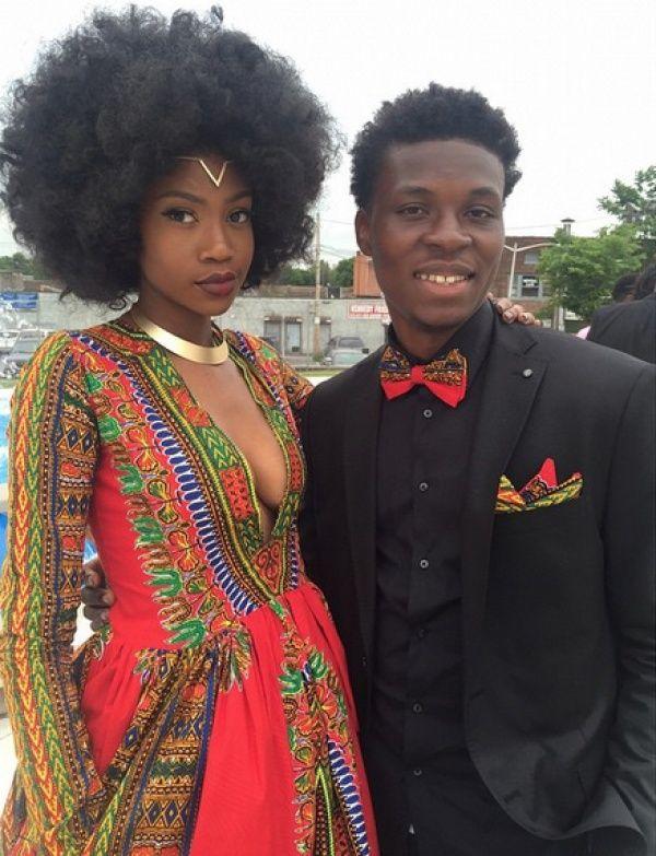 Африканское платье на выпускной
