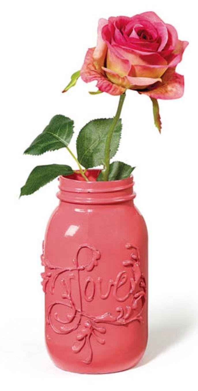 Love Jar   DIY Valentine's Day Vase from @joannstores   Valentine's Day Decorations   Mason Jar Crafts