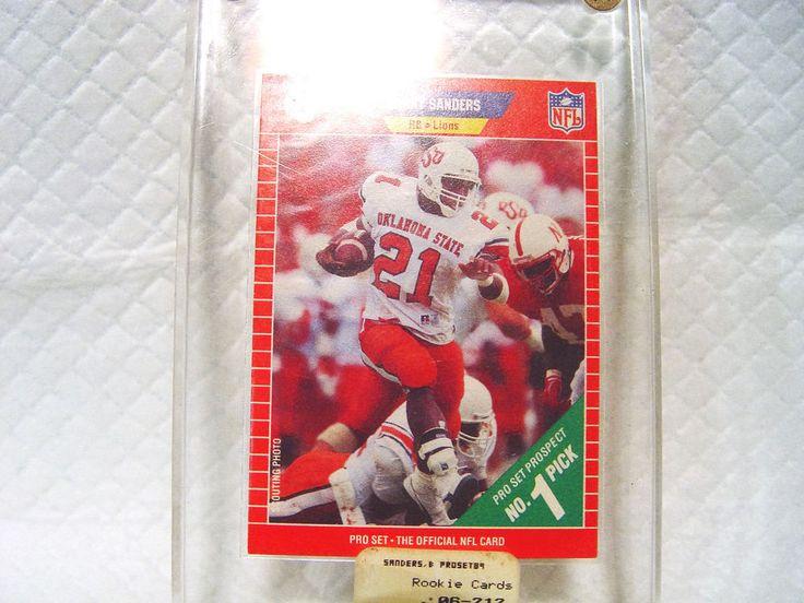 Barry sanders rbrookie card detroit lions1989 nfl pro