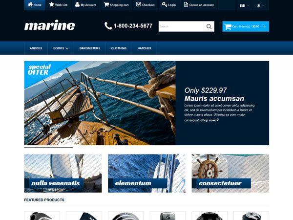 Marine OpenCart Theme