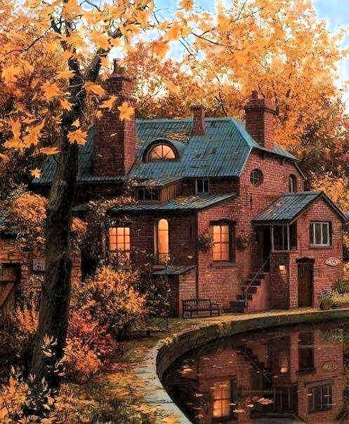 Cozy cabin in Autumn
