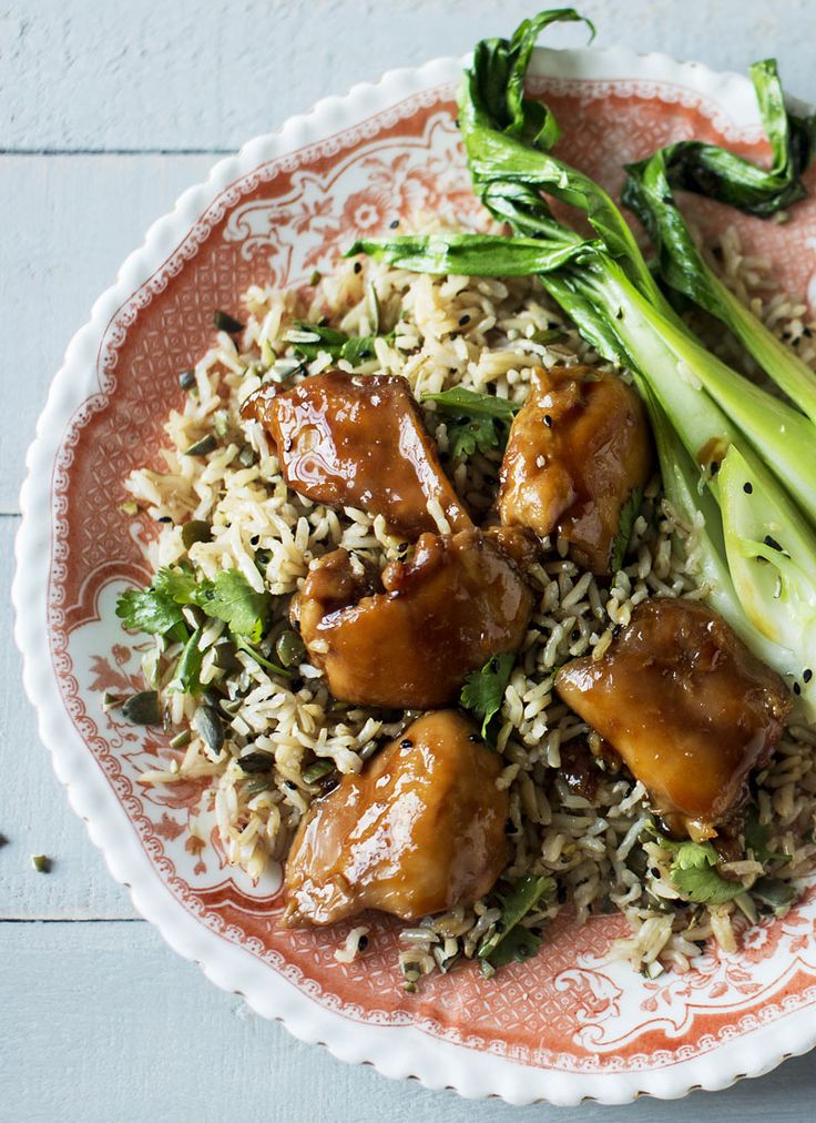 A healthy chicken recipe that is completely gorgeous - honey and soy chicken with coconut rice. From the amazing Monica Galetti.