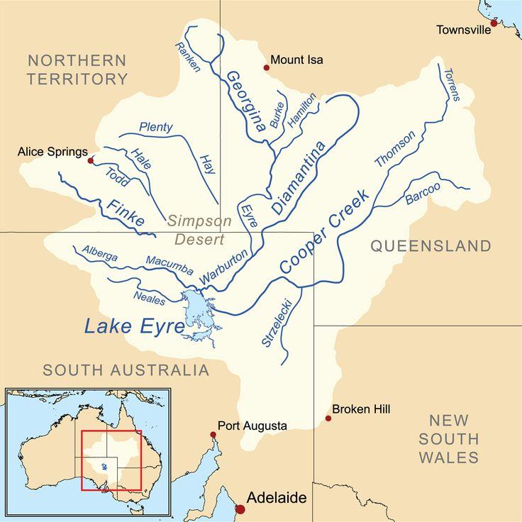 Lake Eyre Basin Map