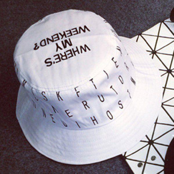 Stylish Letters Pattern Outdoor Bucket Hat For Men #women, #men, #hats, #watches, #belts, #fashion, #style