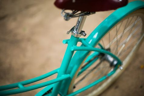 Bicicleta Urbana Summer, estilo retrô / vintage, marca Art Trike, verde agua, feminina, design, diferente