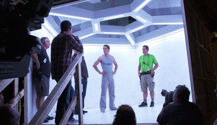 From sconesandjam on Tumblr: Michael #Fassbender on the set of #Xmen: Days Of Future Past, 2013! #Magneto #BTS #Singer #Kinberg