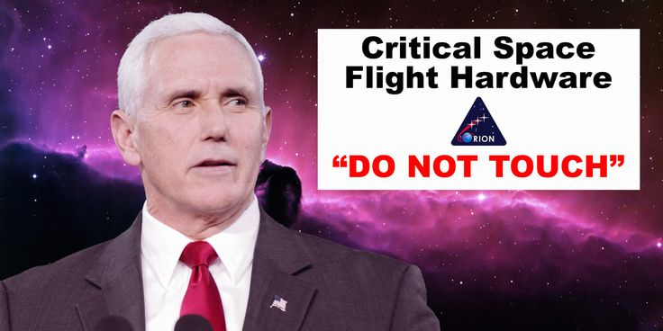 Mike Pense touches sensitive NASA hardware with Do Not Touch sign. Instantly becomes meme