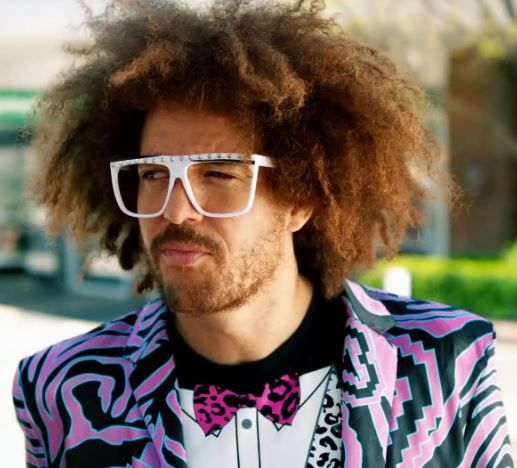 Redfoo's stare! Let's get ridiculous!