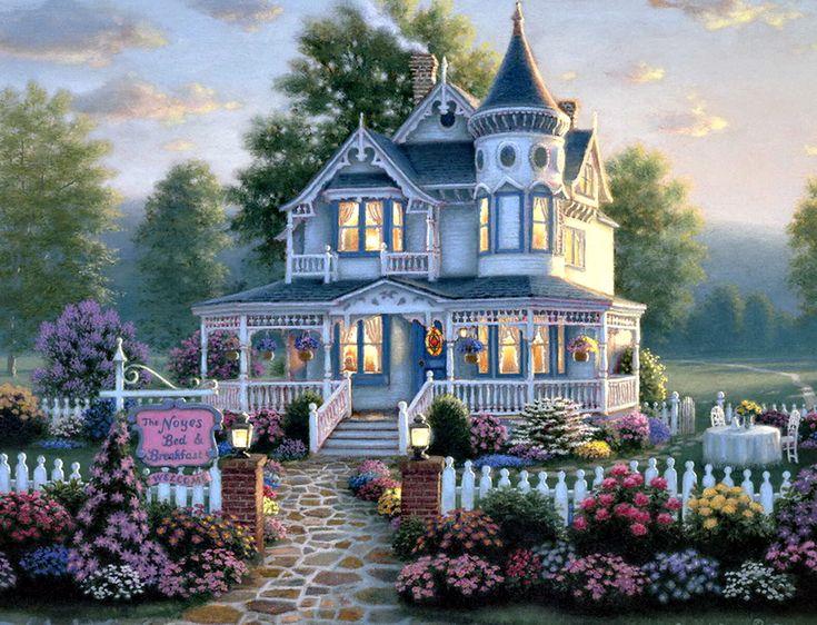 Романтичные домики и пейзажи художник Richard Burns. Обсуждение на LiveInternet - Российский Сервис Онлайн-Дневников