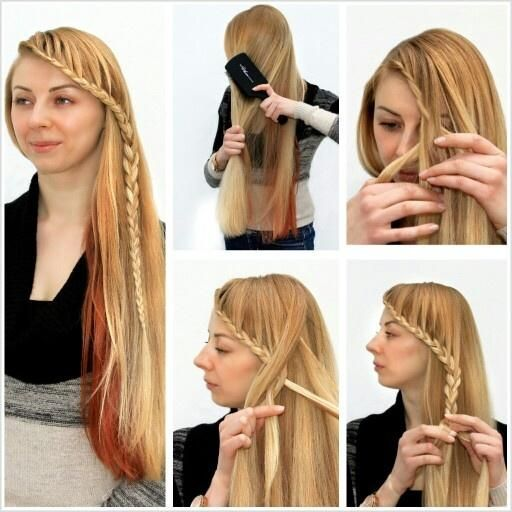 step by step braid the front of the hair with extensions