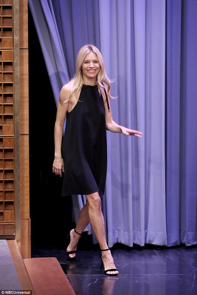 Sienna Miller stuns on the Tonight Show in New York | Daily Mail Online