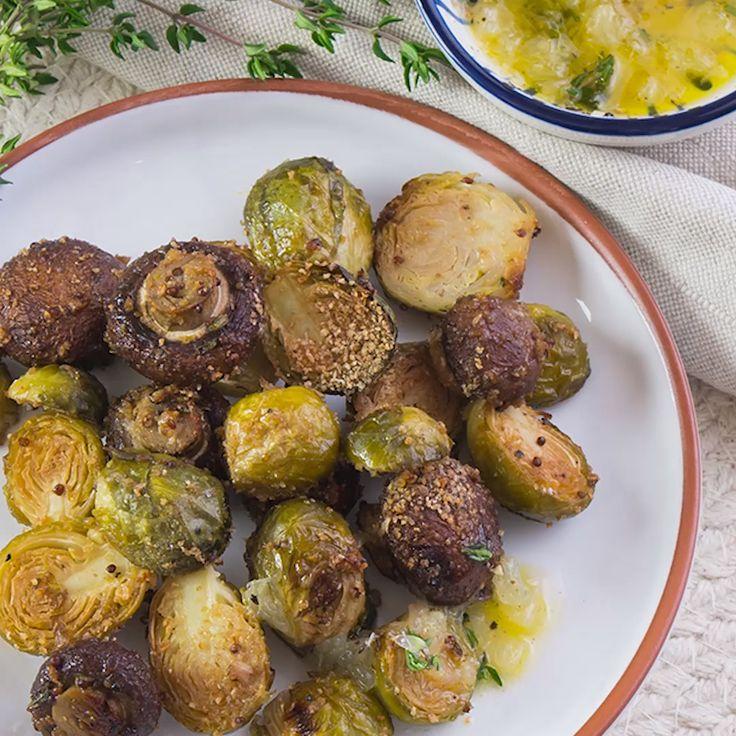 Low Carb Dinner: Gebackener Rosenkohl mit Pilzen   – Rosenkohl-Rezepte