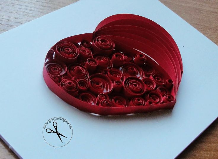 quilling heart paper