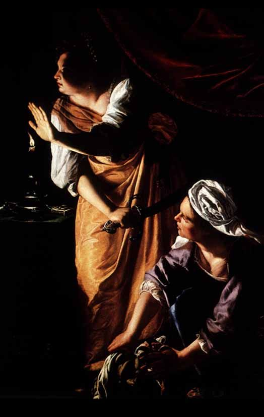 Artemisia Gentileschi, Judith and Her Maidservant with the Head of Holofernes, oil on canvas