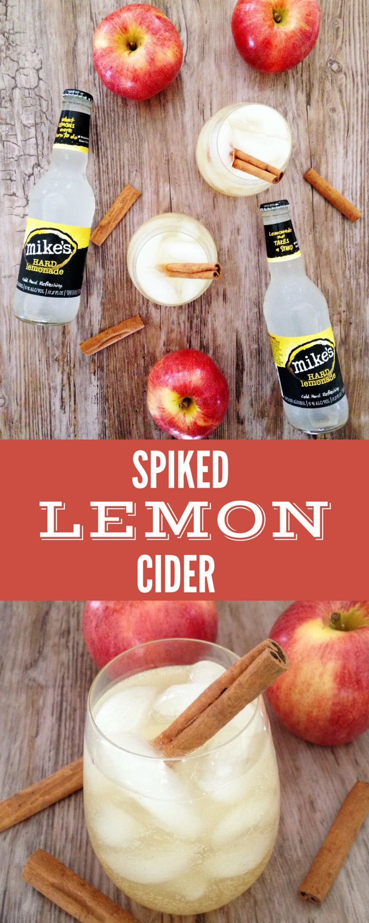 Spiked Lemon Cider: The perfect fall drink! Light & lemony with a spiced cider kick! #MikesVIP