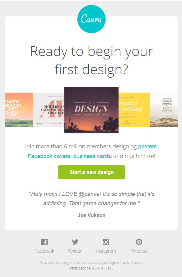 Canva welcome email 1 2016
