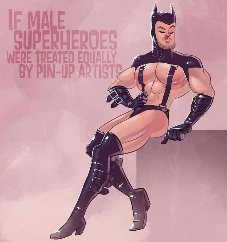 Flamebait: If male superheroes were treated equally by pin-up artists