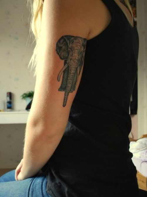 elephant tattoo placement