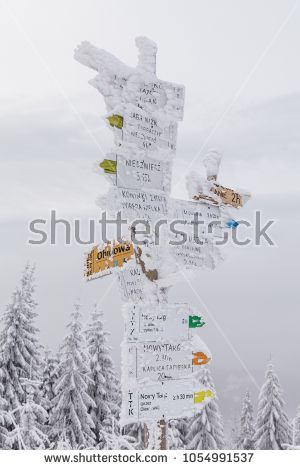 """""""Frozen post with directions on the peak"""""""