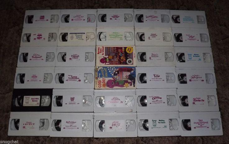 Bundled Lot of 30 Barney VHS Videos Kid Friendly Purple Dinosaur Rare Titles